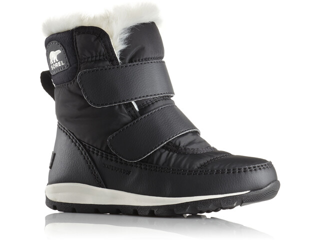 Sorel Whitney Short Hook-and-loop Boots Barn black/sea salt